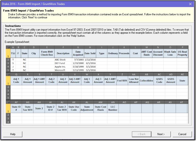 Schedule D Form 8949 Gruntworx Trades Import 1099b 8949 Scheduled