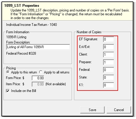 Include 1099 W2 And Other Form Lists In Sets 1099m 1099r K1 W2