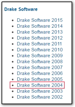 Download prior year federal and state software at the for Drake program