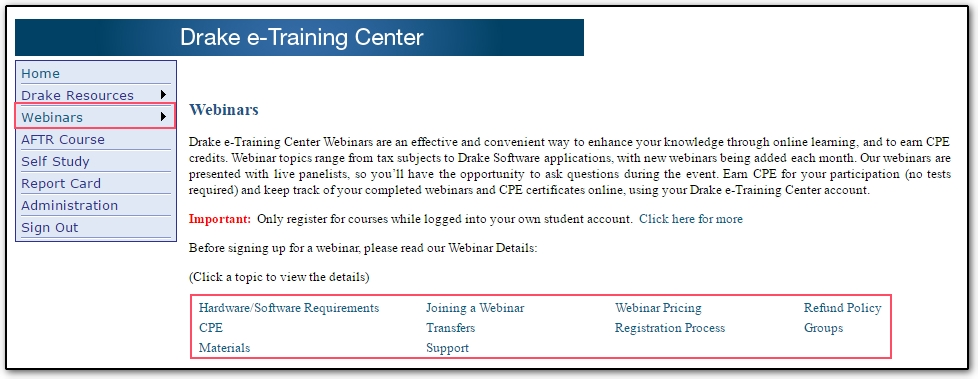 ETC Webinar Information And Requirements Training - Hardware and software requirements