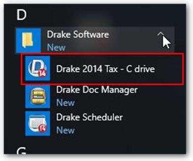 Lost desktop icons for drake software for Drake program