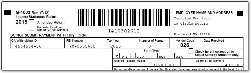 11075 Ga Preparing Form G 1003 For E File Cwug