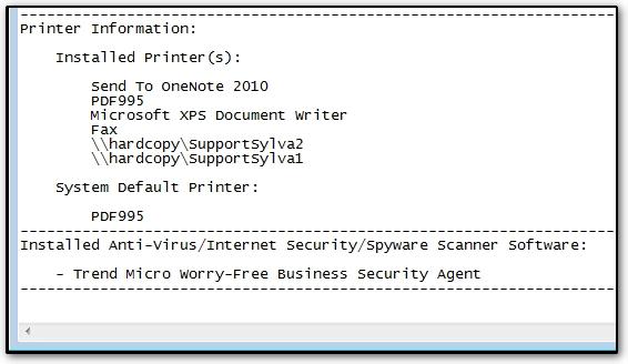 Finding AV, Firewalls, Printers or Network Drives - Use Drake System