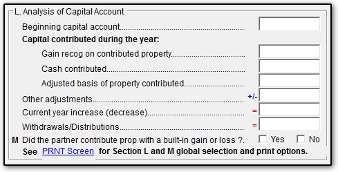 1065 Return Does Not Balance Capital Account K1 M2