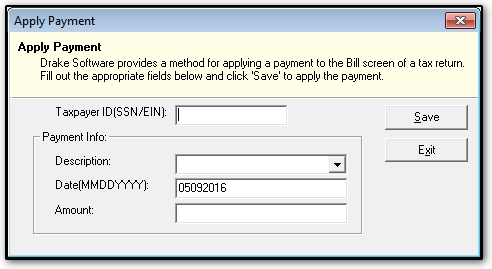 Importing client payment information to the bill for How to bill a client