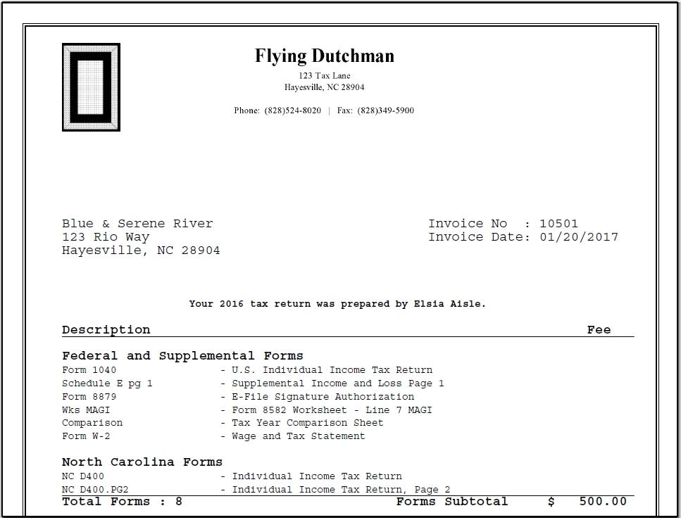 13392 Bill Format Options in Drake 4jpg – Schedule E Worksheet