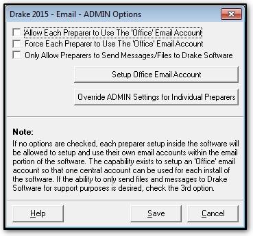 Drake email setup for Drake program