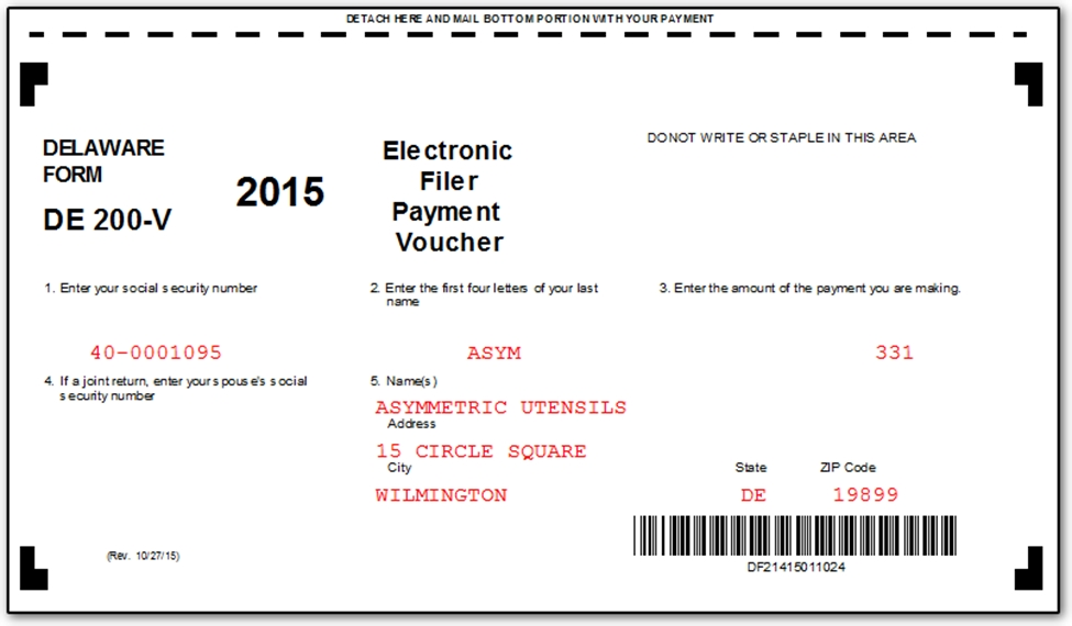 De mail in payment voucher changes for e filed corporate returns the form is produced for any corporate return when there is a balance due no direct debit payment and the return is eligible for e filing altavistaventures Images