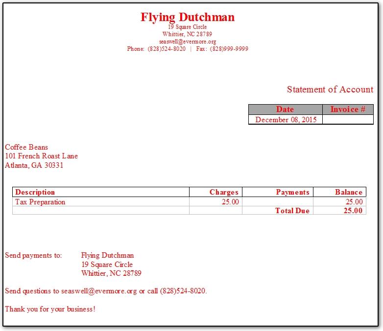 Simplified Bill - Drake invoice