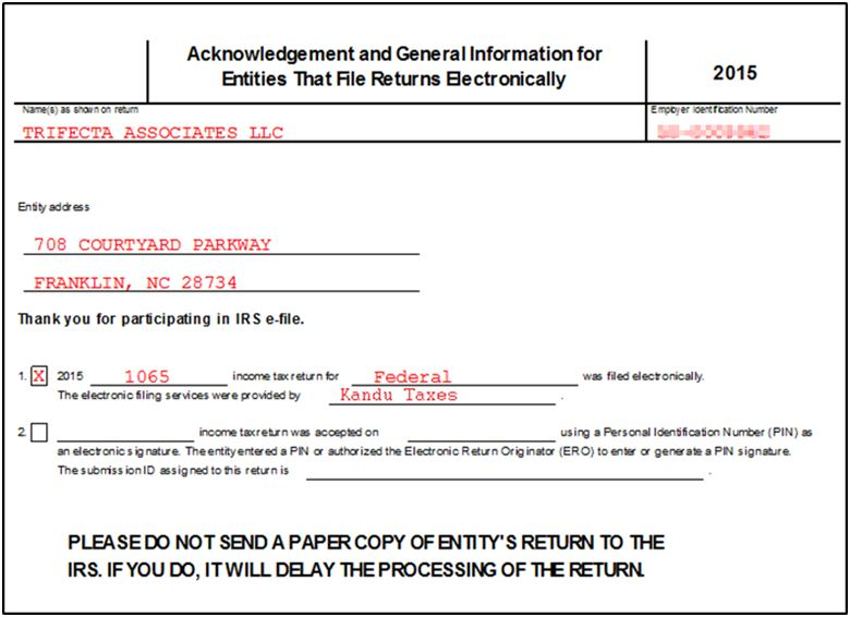 Business Returns Ef Notice Page Similar To Form 9325