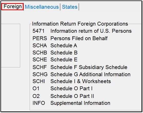Screen 5471 – Schedule E Worksheet