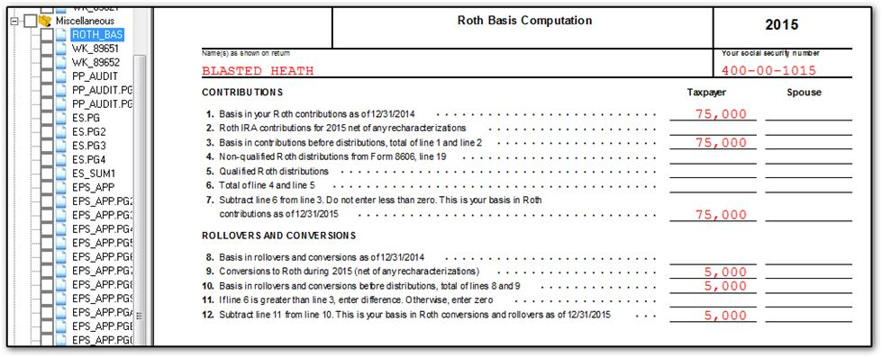 Printables Partnership Basis Worksheet 13853 roth basis worksheet 1 jpg for 2015 returns enter the by going to data entry adjustments tab screen year end that appears on line 12 of bas will be
