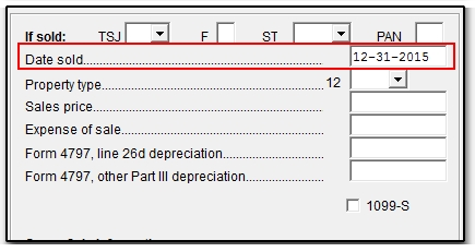 4562 - Disposition of Depreciable Asset(s)