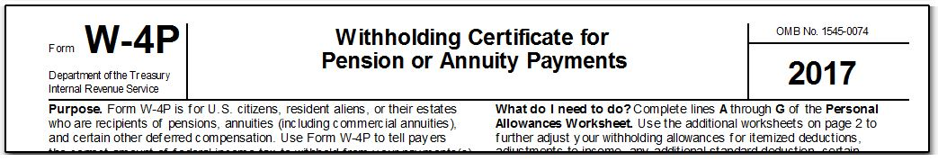 Drake16 Pension or Annuity Allowances Worksheet W4P – Personal Allowances Worksheet