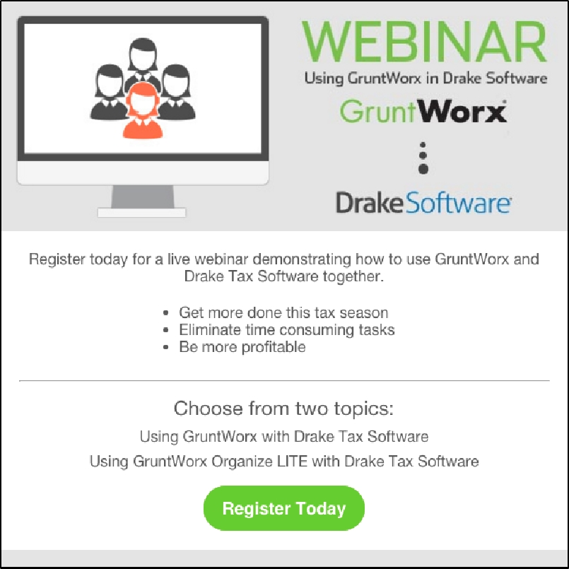 Broadcast gruntworx webinars for drake for Drake program