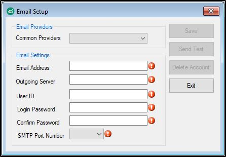 Configuring Email Settings (DAS)