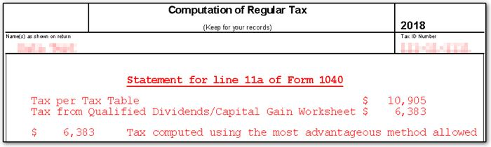 form 1040 qualified dividends and capital gain tax worksheet 2018  17 - No Tax or Tax Different than Tax Table