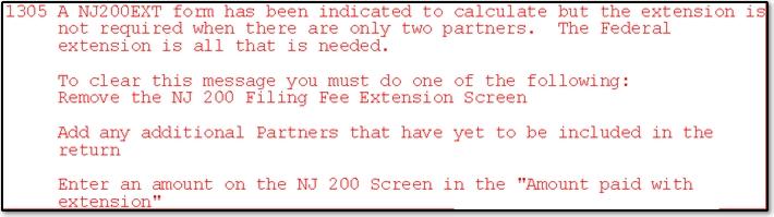 form 1065 nj instructions  NJ - Partnership Extension EF Message 12