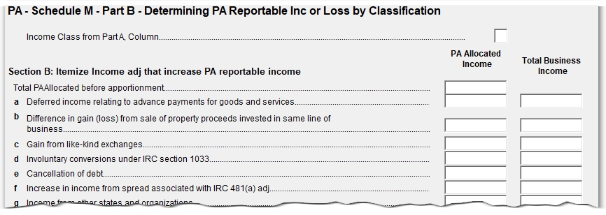Pa 1120s1065 Apportioning Or Allocating Income