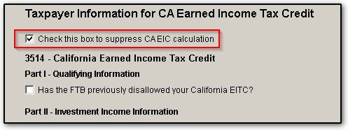ca earned income credit checklist and ef messages