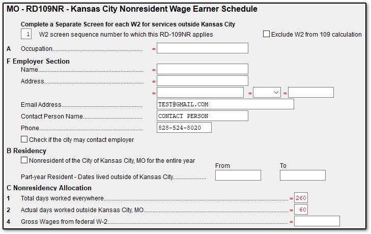 w2 form kansas  MO - Kansas City Earnings Tax Form RD-11 (Drake11)